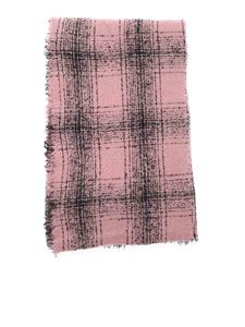 Faliero Sarti - Mila checked scarf in pink and black