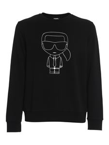 Karl Lagerfeld - Logo print sweatshirt in black