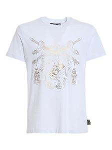 Versace Jeans Couture - Versace shield cotton T-shirt in white