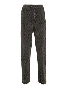 M Missoni - Lurex trim palazzo trousers in black