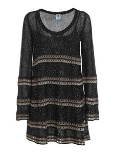 M Missoni - Sequined wool dress in black