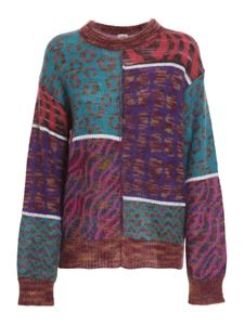 M Missoni - Patchwork effect jumper in multicolor