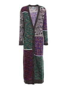 M Missoni - Patchwork effect long cardigan in multicolor