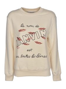 Lanvin - Lips print sweatshirt in cream color