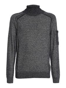 CP Company - Fleece knitted wool blend turtleneck in grey