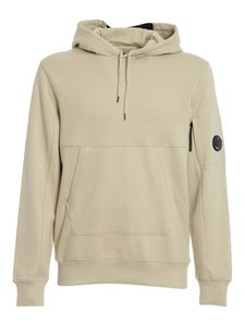 CP Company - Lens detailed cotton hoodie in beige