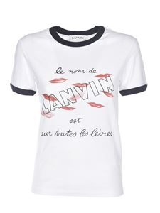 Lanvin - Lips print T-shirt in white