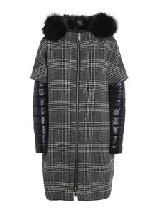 Herno - Prince of Wales padded coat in black
