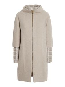 Herno - Wool blend padded coat in beige
