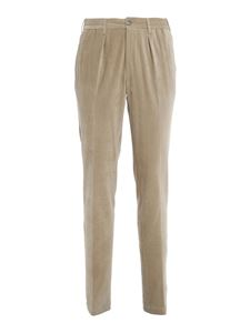 PT01 - Velvet pants with drawstring in beige