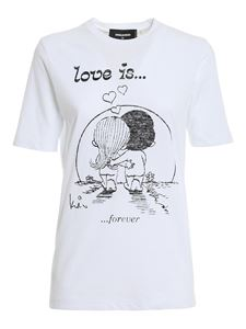Dsquared2 - Love is Forever T-shirt in white