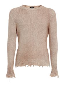 Avant Toi - Destroyed detail jumper in beige