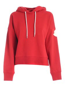 Moncler - Logo patch sweatshirt in red