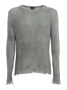 Avant Toi - Destroyed detail jumper in grey