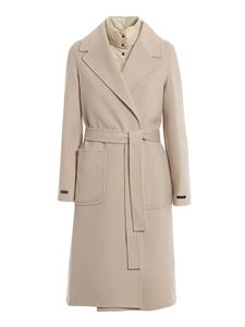 Peserico - Cappotto in lana con interno staccabile beige