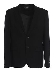 Z Zegna - Patterned cotton blazer in black