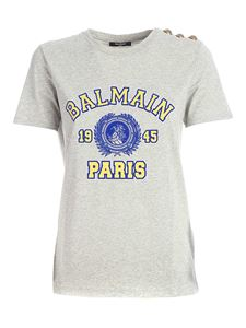 Balmain - Flock logo T-shirt in grey