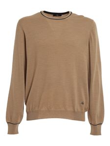 Fay - Wool crewneck jumper in beige