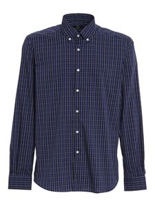 Fay - Checked shirt in blue