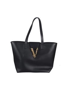 Versace - Golden V shopper bag in black