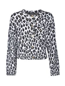 Versace - Animalier cardigan in black and white