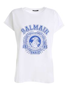 Balmain - Flock logo T-shirt in white