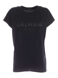 Balmain - Logo patch T-shirt in black