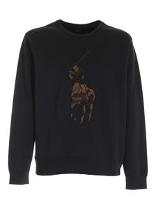 POLO Ralph Lauren - Logo front patch sweatshirt in black