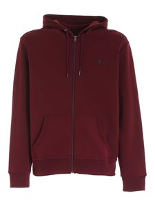 POLO Ralph Lauren - Logo embroidery sweatshirt in burgundy color