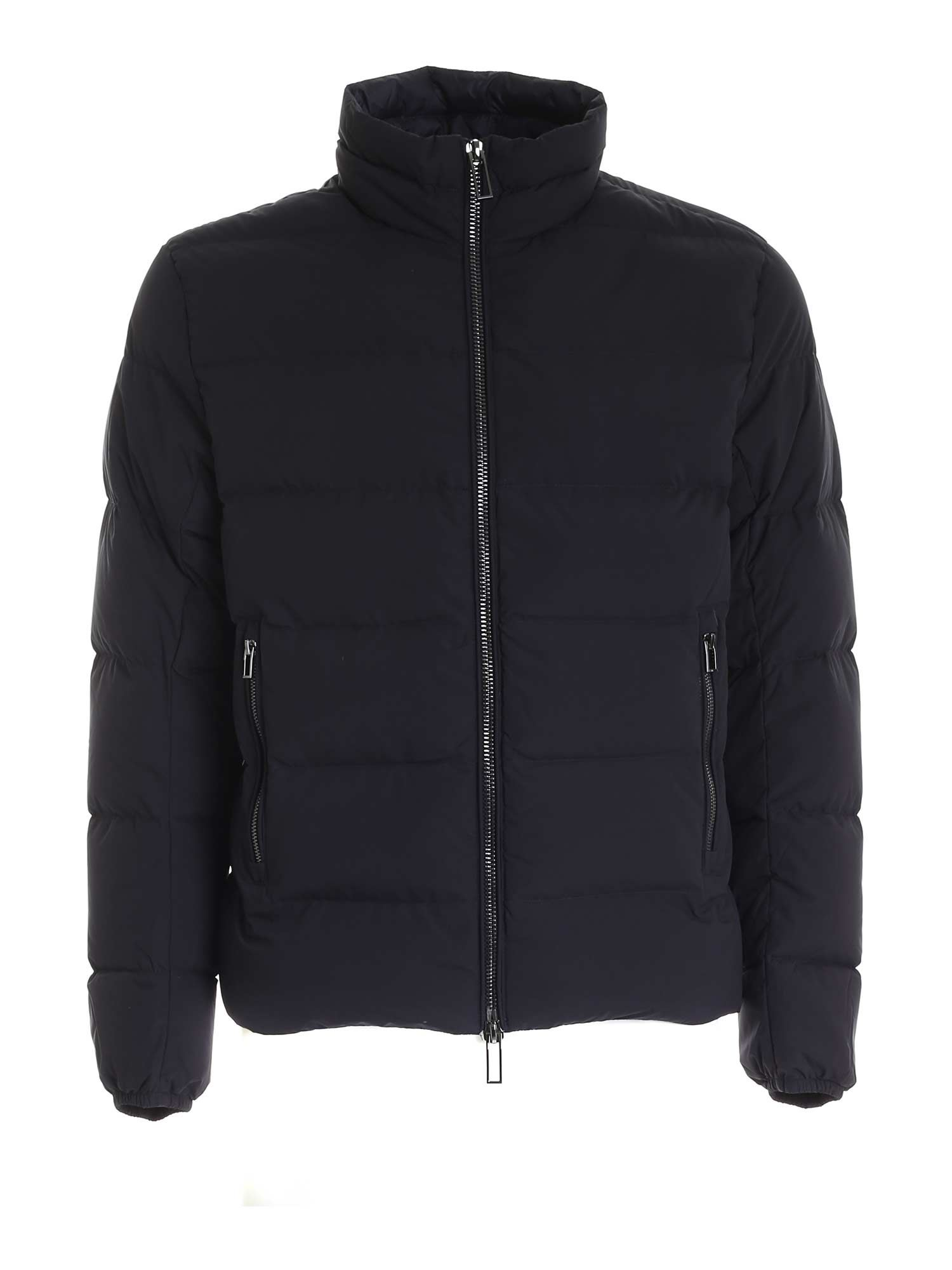 Emporio Armani ZIPPED DOWN JACKET IN BLUE