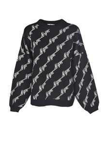 MSGM - Monogram pullover in black and white