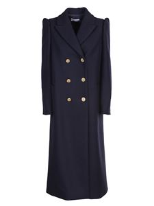 Red Valentino - Cappotto doppiopetto in cachemire blu