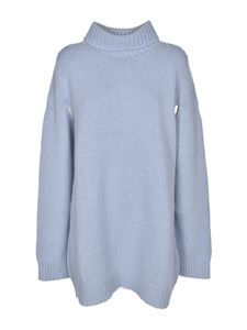 Lanvin - Oversized pullover in light blue cashmere
