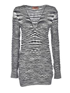 Missoni - V-neck sweater in black and white