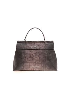 Ermanno by Ermanno Scervino - Iona large handbag in brown and grey
