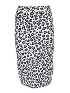 Versace - Animal print skirt in black and white