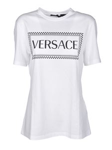 Versace - Logo 90s Vintage T-shirt in white