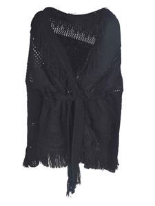 Alanui - Icon Net Embassy cardigan in black