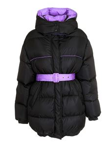MSGM - Down jacket in black and purple