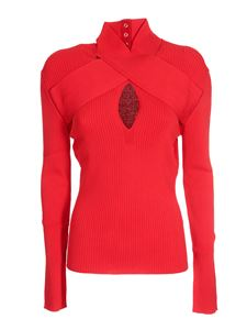 MSGM - Ribbed turtleneck in red