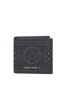 Golden Goose - Studs wallet in black