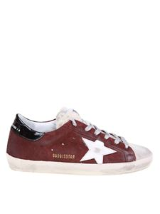 Golden Goose - Sneakers in burgundy with white star