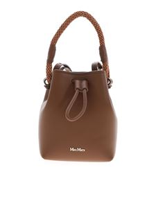 Max Mara - Logo leather bucket bag in brown