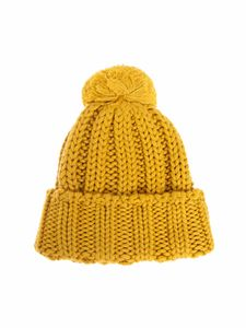 MSGM - Knitted beanie in yellow
