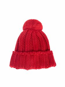 MSGM - Knitted beanie in red