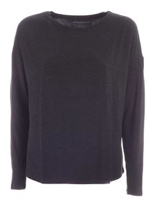 Majestic Filatures - Long-sleeved T-shirt in anthracite color