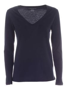 Majestic Filatures - Long sleeves T-shirt in blue