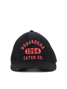 Dsquared2 - Cotton gabardine cap in black