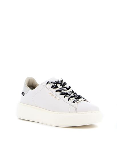 Woolrich - Leather sneakers in white