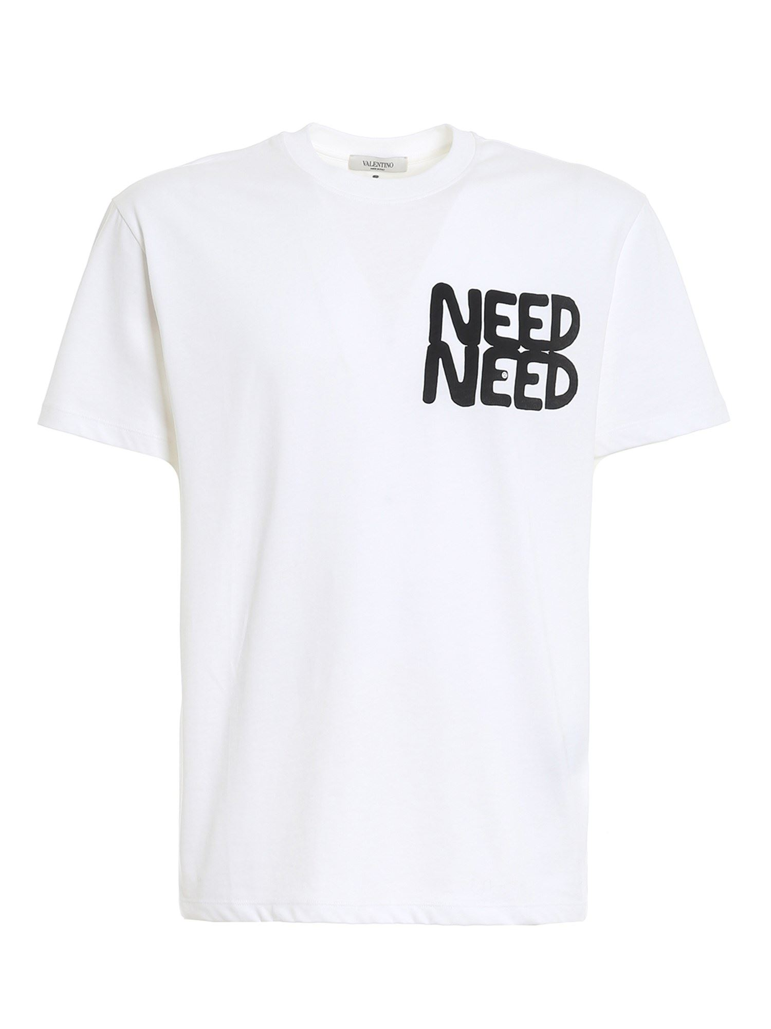 Valentino Cottons NEED NEED T-SHIRT IN WHITE